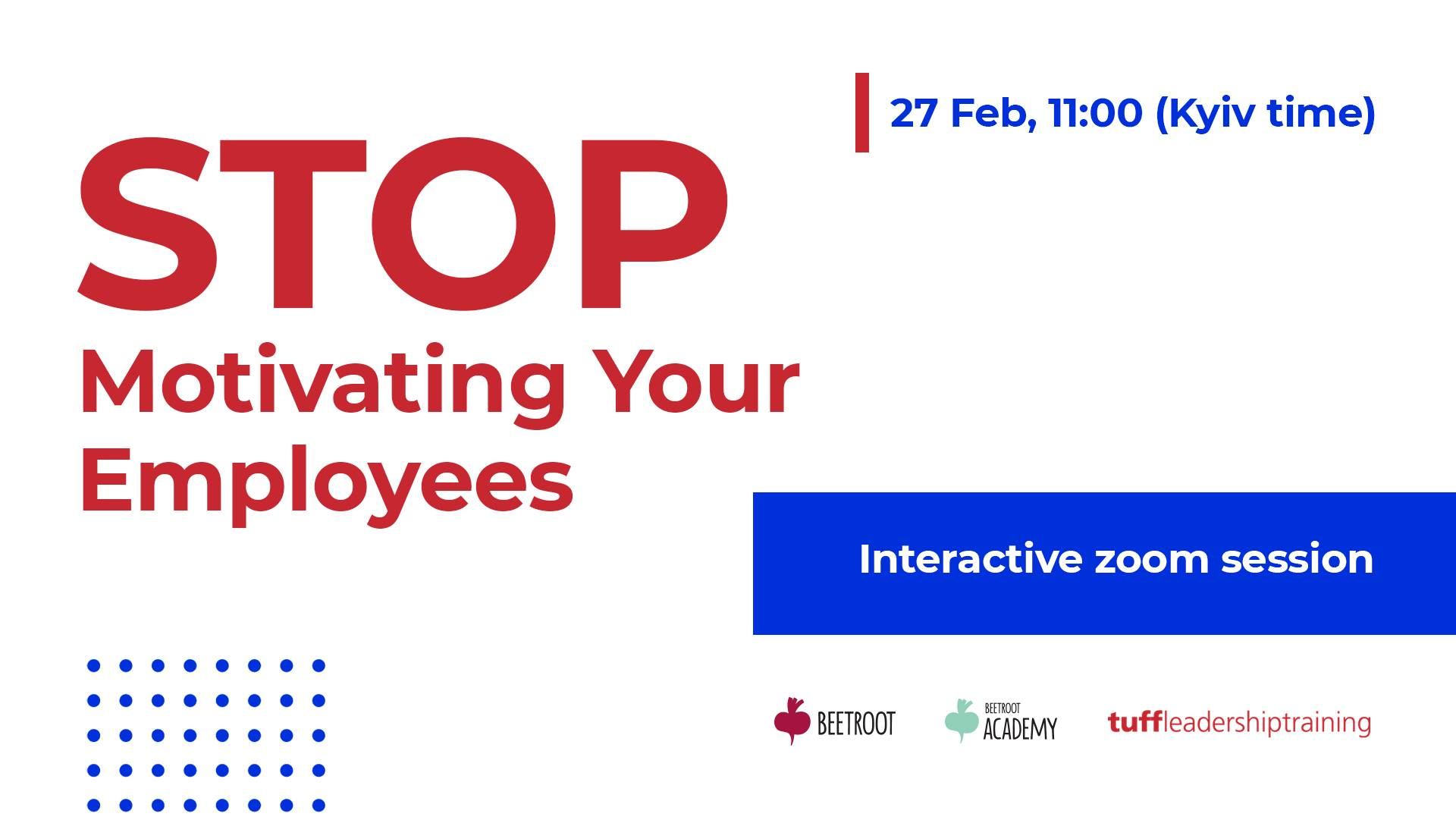 Stop Motivating Your Employees (Interactive Zoom Session)